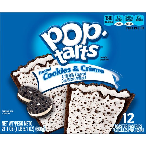 Kellogg's Pop-Tarts Frosted Cookies & Creme Toaster Pastries 12Ct