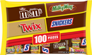 Mars Halloween Chocolate Variety Bag, Fun Size, 100 Pieces