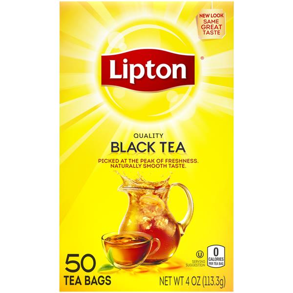 Lipton Black Tea - 50Ct Bags