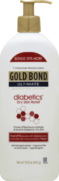 Gold Bond Ultimate Diabetics Dry Skin Relief Hydrating Lotion Hy