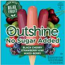 Outshine Black Cherry, Strawberry Kiwi, & Mixed Berry No Sugar Added Fruit Bars 12Ct