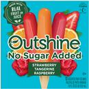 Outshine Strawberry, Raspberry, Tangerine No Sugar Added Fruit Bars 12Ct