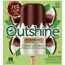 Outshine 1/2 Dipped in Dark Chocolate Creamy Coconut Fruit Bars 5Ct