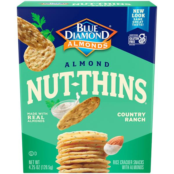 Blue Diamond Country Ranch Almond Nut Thins Nut & Rice Cracker Snacks