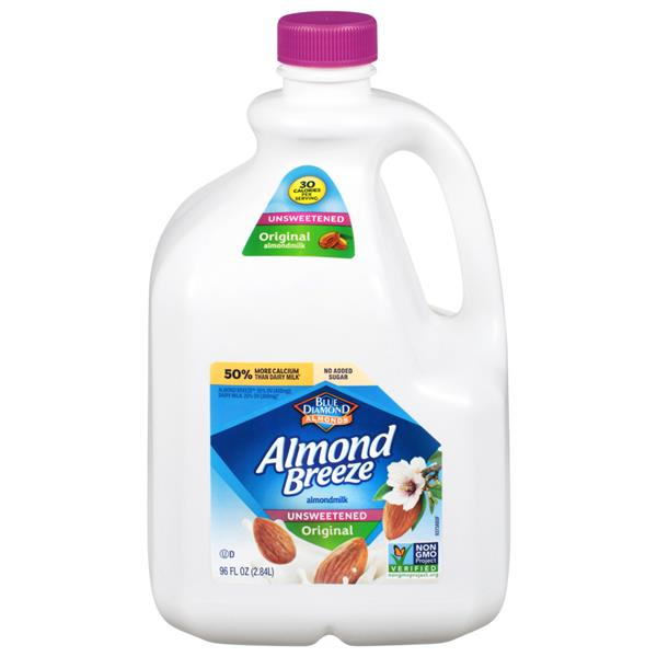 Blue Diamond Almond Breeze Unsweetened Original AlmondMilk