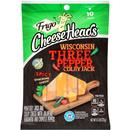 Frigo Cheese Heads Wisconsin Three Pepper Colby Jack Spicy Snacking Cheese Sticks 10Pk
