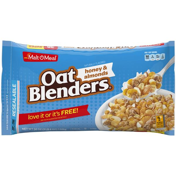 Malt-O-Meal Oat Blenders With Honey & Almonds Cereal