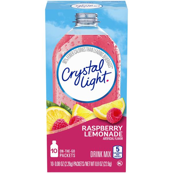 Crystal Light On the Go Raspberry Lemonade Drink Mix 10-0.08 oz Packets