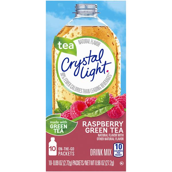 Crystal Light Raspberry Green Tea On the Go Drink Mix 10-0.09 oz Packets