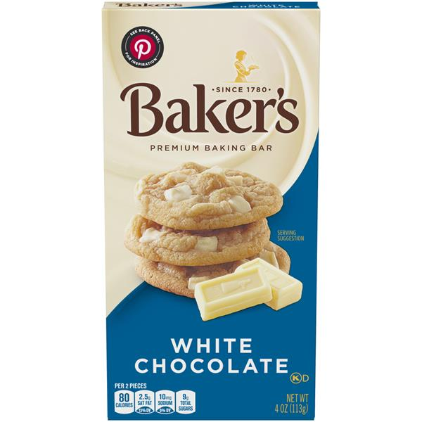 baker u0026 39 s premium white chocolate baking chocolate bar