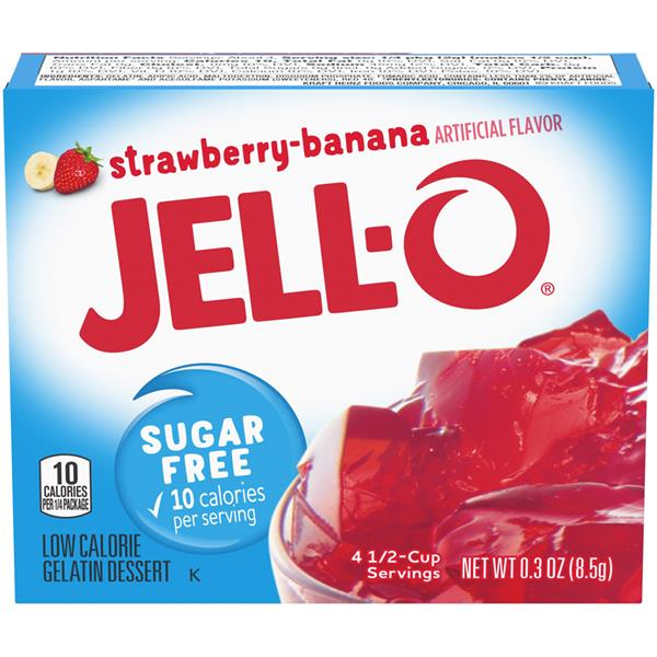 Jell-O Sugar Free Strawberry-Banana Gelatin Dessert