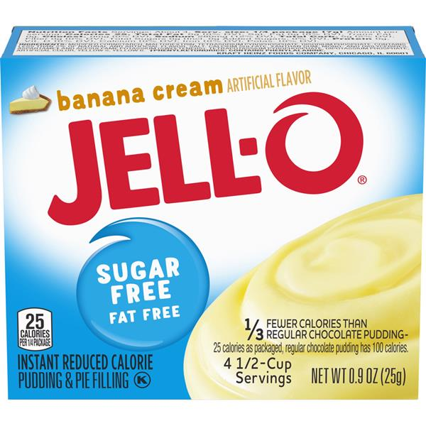 Jell-O Sugar Free Fat Free Banana Cream Instant Pudding & Pie Filling
