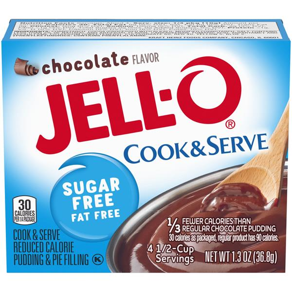 Jell-O Chocolate Sugar Free Fat Free Cook & Serve Pudding & Pie Filling