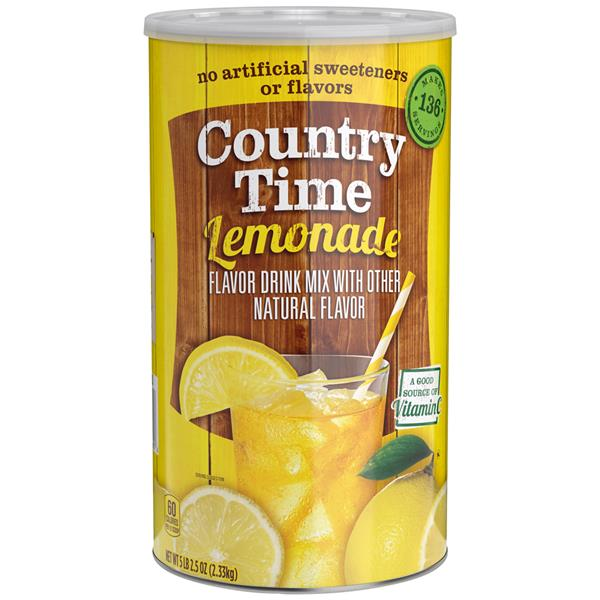 Country Time Lemonade Drink Mix | Hy-Vee Aisles Online ...