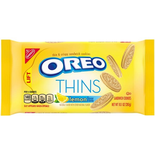 Nabisco Oreo Thins Lemon Creme Sandwich Cookies