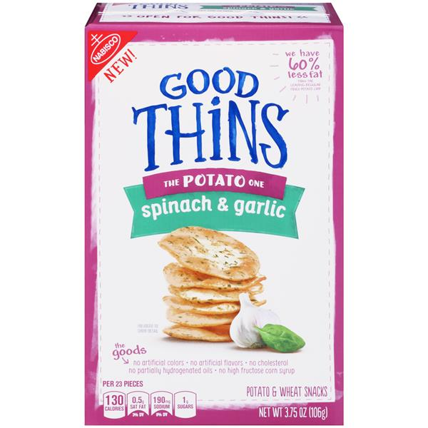 Good Thins Spinach & Garlic Potato Snacks