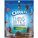 Nabisco Oreo Thin Bites Fudge Dipped Mint Creme Sandwich Cookies
