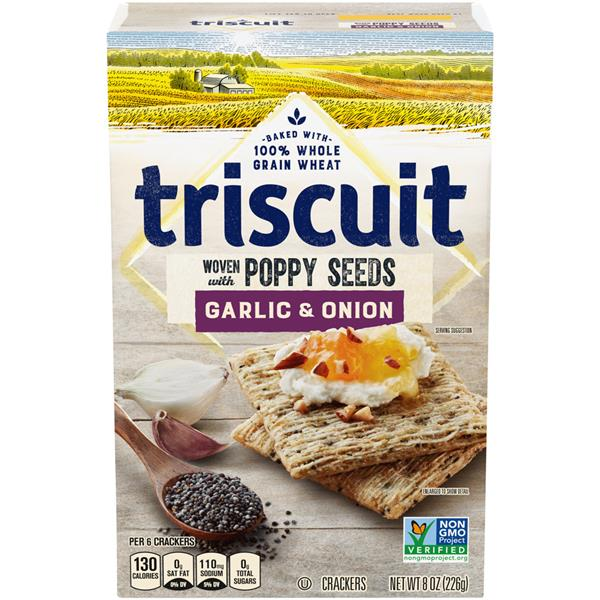 Triscuit Garlic & Onion Woven with Poppy Seeds Crackers