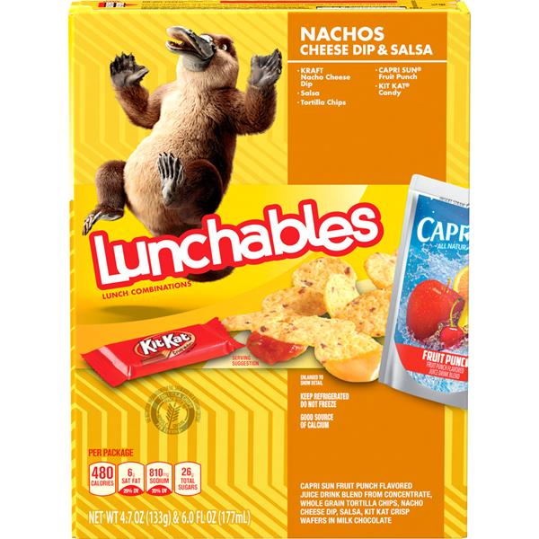 Lunchables Nachos, Cheese Dip & Salsa Lunch Combination With Capri Sun Fruit Punch