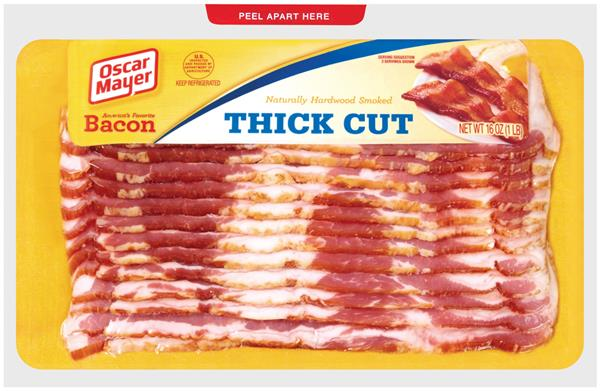 Oscar Mayer Thick Cut Bacon on oscar mayer selects nutrition