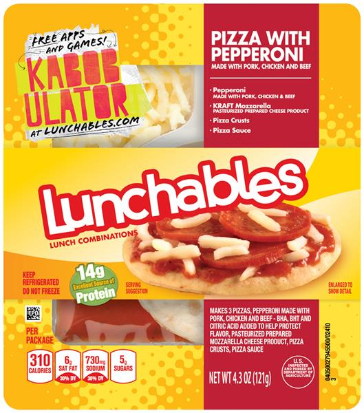 Oscar Mayer Lunchables Pizza With Pepperoni on oscar mayer lunchables pepperoni pizza