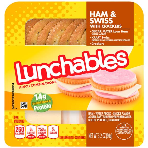 Lunchables Ham & Swiss With Crackers