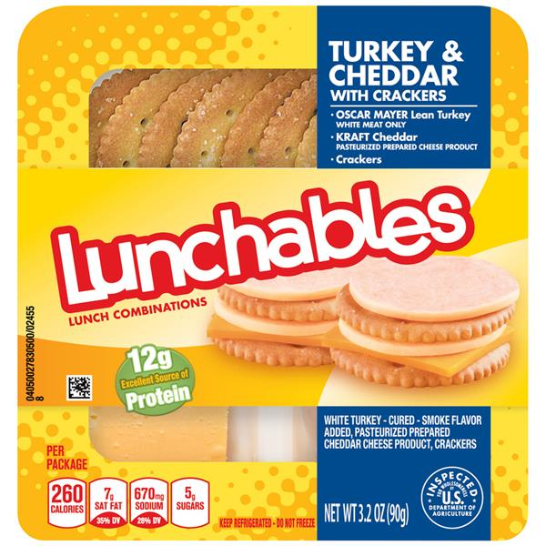 Lunchables Turkey & Cheddar with Crackers Lunch