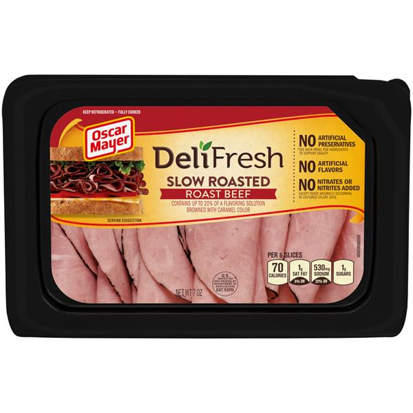 Oscar Mayer Deli Fresh Slow Roasted Cured Roast Beef Lunch Meat
