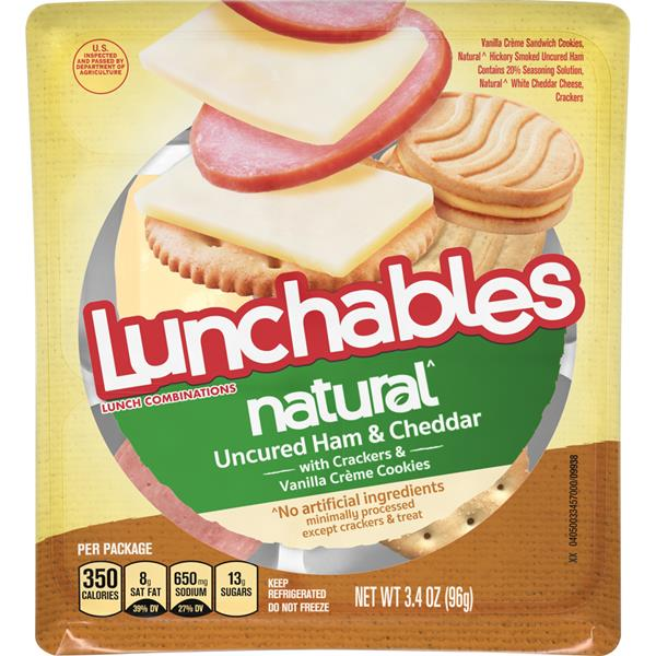Lunchables Natural Uncured Ham & Cheddar Lunch Combinations