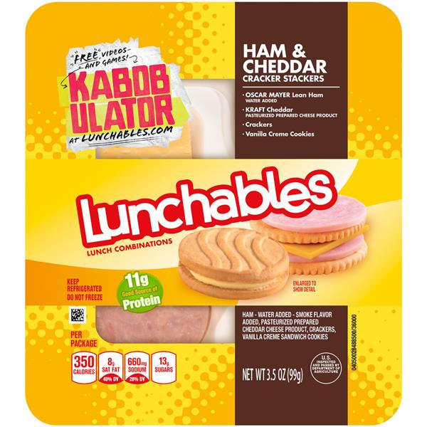Lunchables Ham & Cheddar Cracker Stackers Lunch Combination
