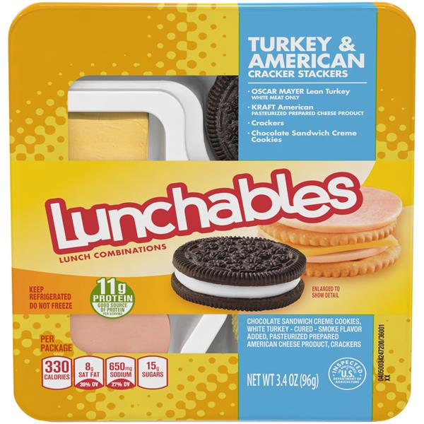 Lunchables Turkey & American Cracker Stackers Lunch Combination