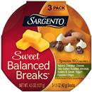 Sargento Sweet Balanced Breaks Natural Cheddar Cheese Sea-Salted Roasted Almonds Raisins & Greek Yogurt Flavored Drops Snacks 3 Pack