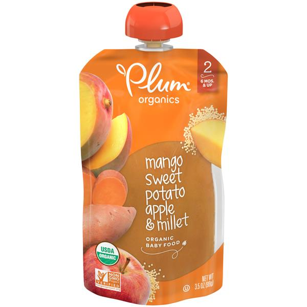 Plum Organics Stage 2 Baby Food Sweet Potato Mango & Millet