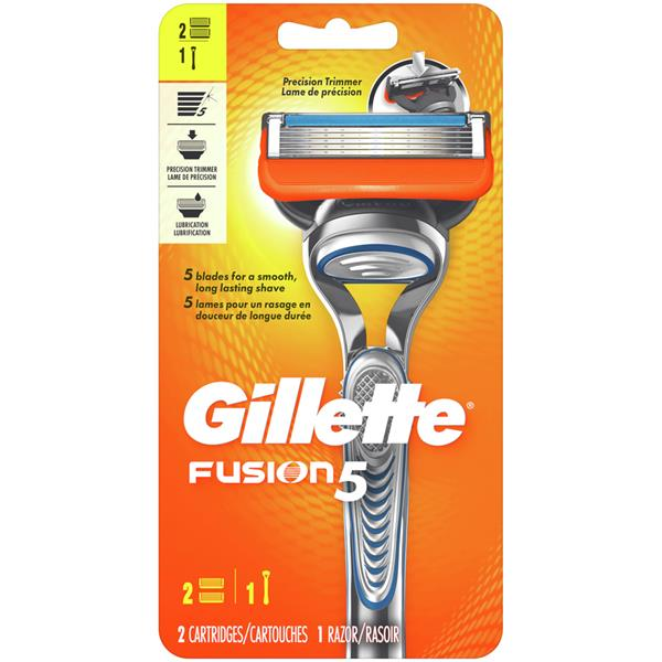 Gillette Fusion5 Razor with 2 Cartridges