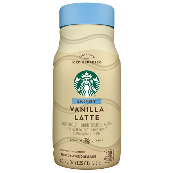 Starbucks Skinny Vanilla Latte Chilled Espresso Beverage ...