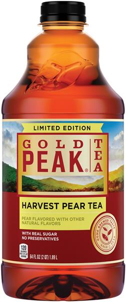 Gold Peak is a deliciously refreshing ready-to-drink iced tea Pure Leaf Iced Tea, Raspberry, Sweetened, Real Brewed Black Tea, Ounce Bottles (Pack of 6) by Pure Leaf.