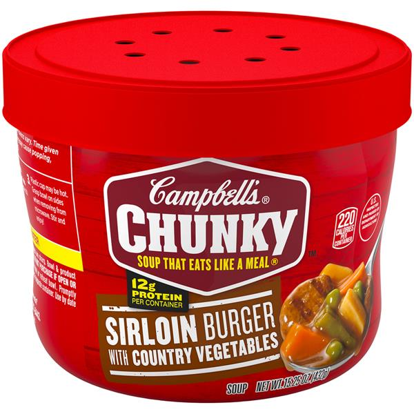 Campbell's Chunky Sirloin Burger with Country Vegetables Soup