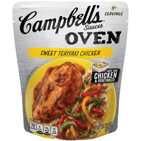 Campbell's Oven Sauces Sweet Teriyaki Chicken Cooking Sauce