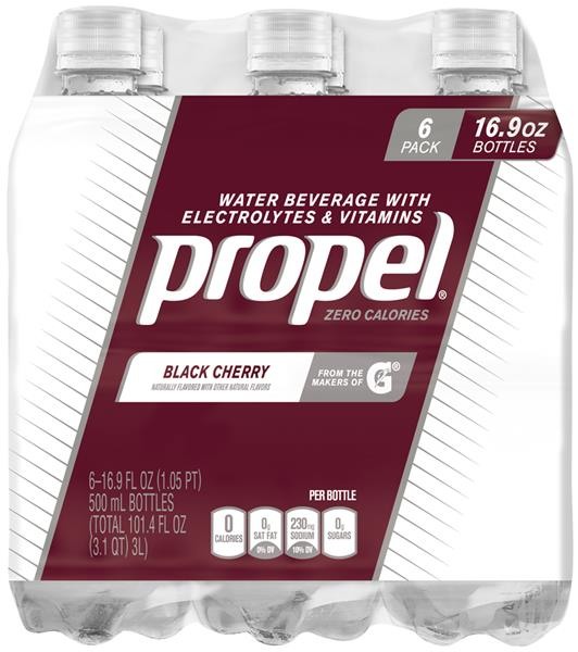Propel Black Cherry Water Beverage With Electrolytes & Vitamins 6Pk