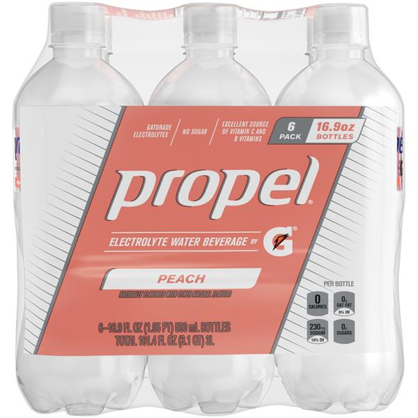 Propel Peach Water Beverage with Vitamins 6Pk