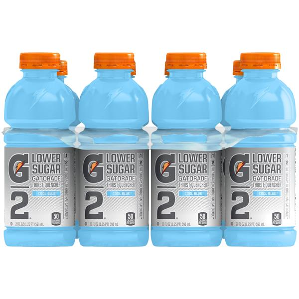 G2 Cool Blue Lower Sugar Thirst Quencher Sports Drink 8Pk