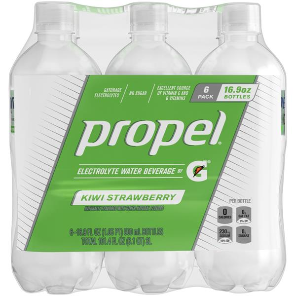 Propel Kiwi Strawberry Water Beverage with Electrolytes & Vitamins 6Pk