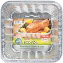 Handi-Foil Eco-Foil 9-3/8 x 9-3/8 x 2-3/8 in. Poultry Pans with Lids