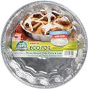 Handi-Foil Eco-Foil Cook-N-Carry with Lids 8-1/2 x 1-5/16 in. Round Cake Pans