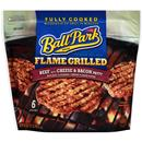 Ball Park Flame Grilled Beef with Cheese & Bacon Patties 6 Count