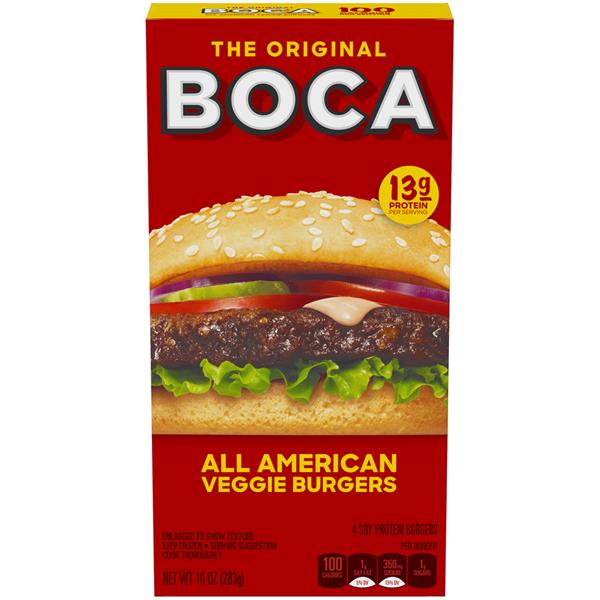 Boca All American Flame Grilled Veggie Burgers 4Ct