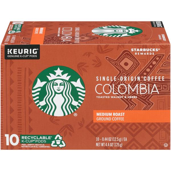 c856a14acc38 Starbucks Colombia Single-Origin Medium Roast Ground Coffee K-Cups 10 - 0.44  oz