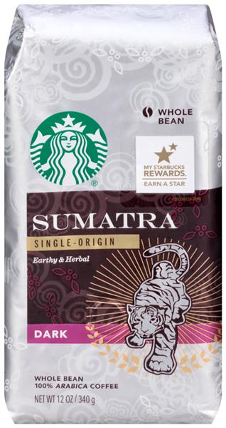 Starbucks Sumatra Single-Origin Earthy & Herbal Dark Whole Bean Coffee