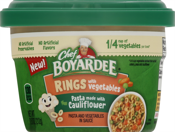 Chef Boyardee Rings with Vegetables