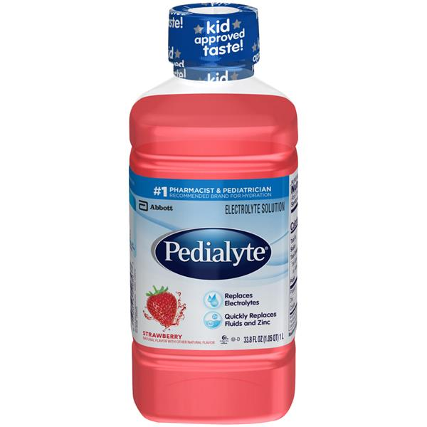 Pedialyte Strawberry Flavor Oral Electrolyte Solution